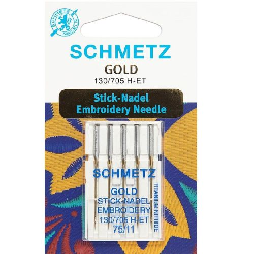 Schmetz - Gold Embroidery Sewing Machine Needles